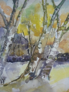 Olive Costain, Silver Birch Trees